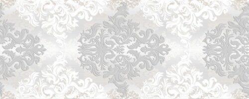 Декор Бристоль светло-серый 20х50