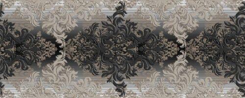 Декор Бристоль черный 20х50