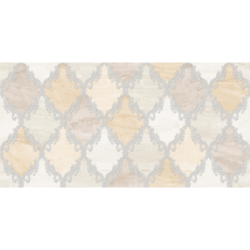 Декор Дубай 3 бежевый 25х50 см