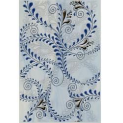 Декор Елена каприз (синий)