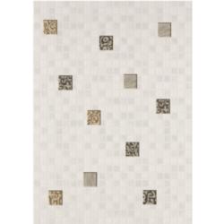 Декор Квадро мозайка 25х35 см (белый)