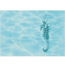 Декор Лазурь морской конек 25х35 см