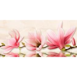 Декор Мираж серо-розовый 20х50 см