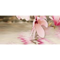 Панно Мираж 3 серо-розовый 20х50 см