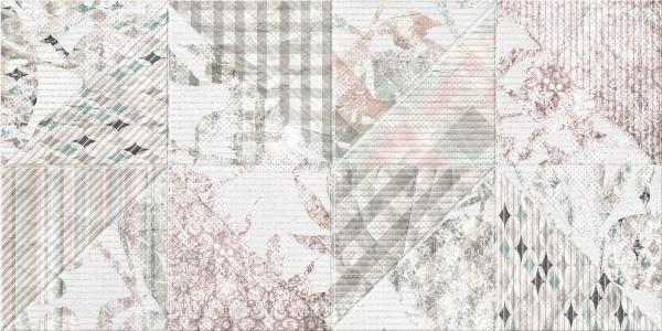 Скарлетт светло-серый Декор 4 цветы