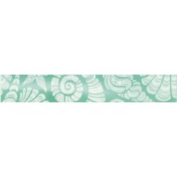 Фриз Лазурь ракушки бирюзовый 35х5.4 см