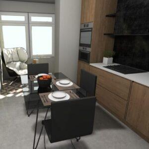 Вита интерьер кухня, балкон