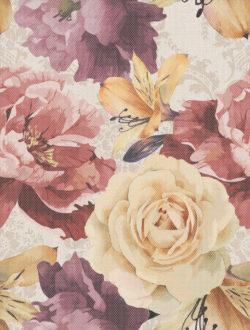 Gobelen цветы бежевый